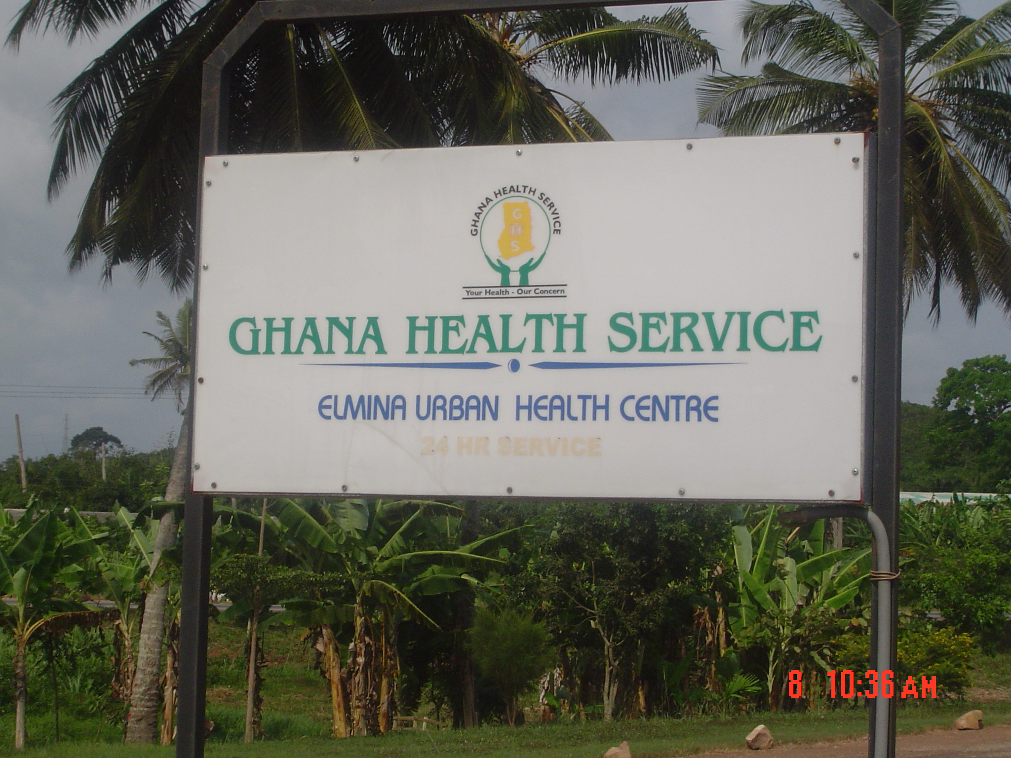Elmina Urban Health Center Sign Board