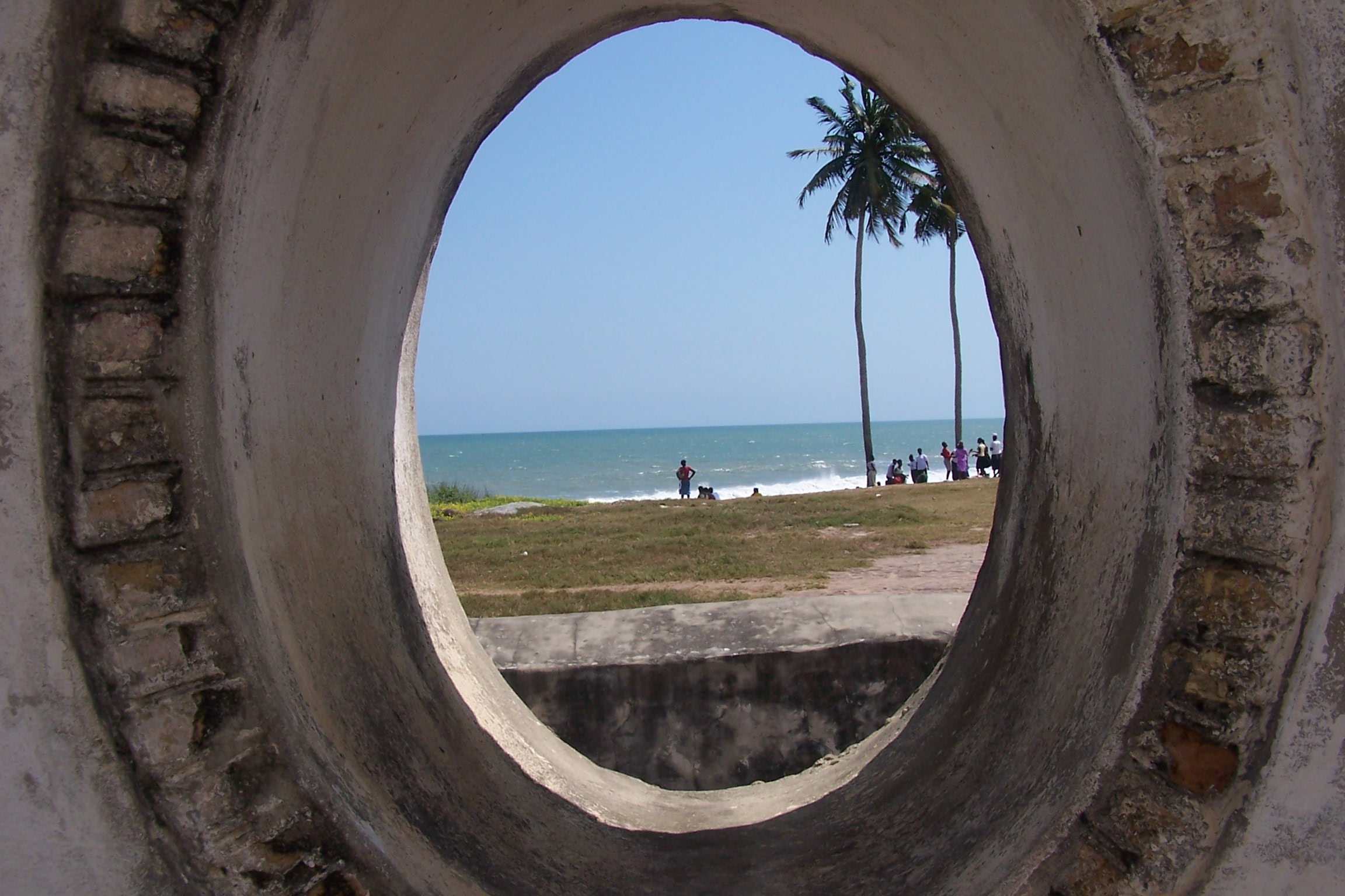 A westward view from inside Elmina Castle (Built 1482) - picture taken by Adwoa Ulzen 2004