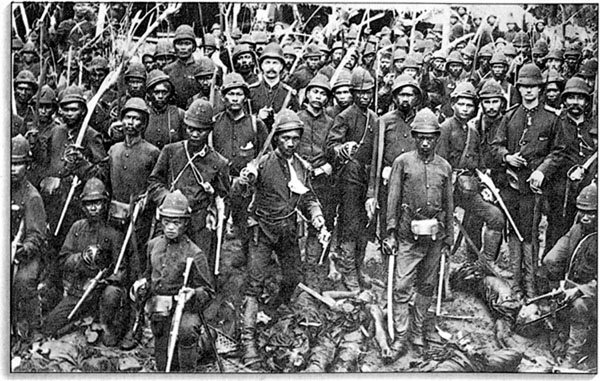 Black Dutchmen and others of the Royal Dutch east Indies Army in 1800's