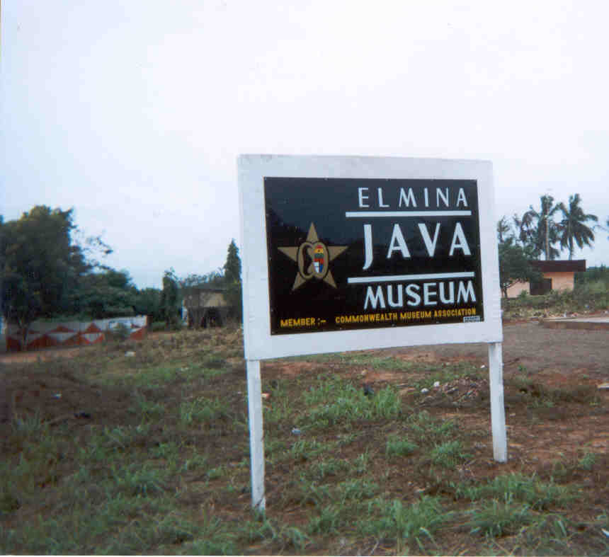 Elmina- Java Museum sign